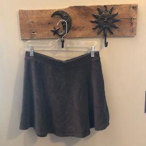 Forever 21 gray ribbed skater skirt